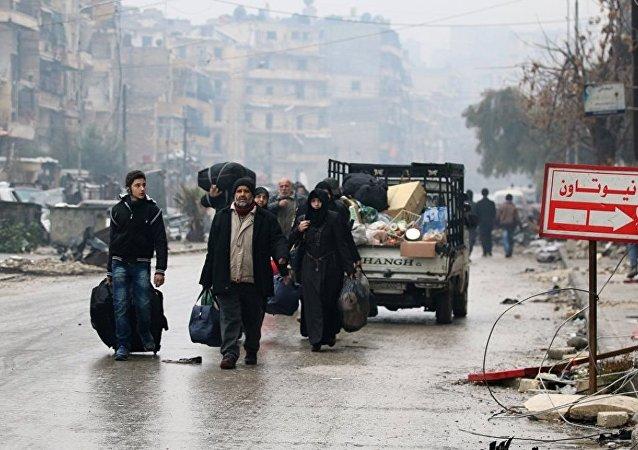 俄国防部部呼吁国际组织和其它国家向阿勒颇的居民提供援助
