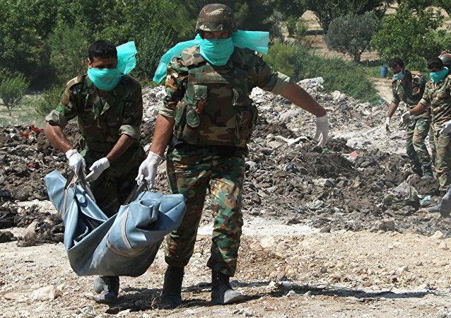 俄国防部:阿勒颇找到受到酷刑和迫害的叙利亚人埋葬地点