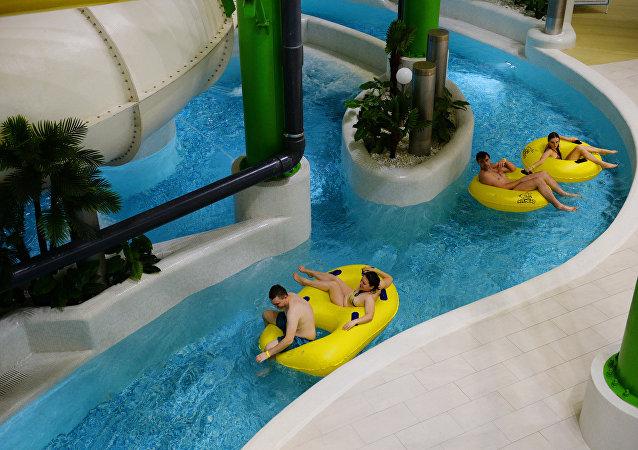"""俄远东地区最大的水上乐园之一""""神奇岛""""在堪察加开幕"""