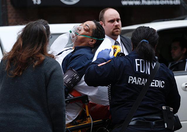 布鲁克林区发生列车脱轨事故已经导致76人受伤