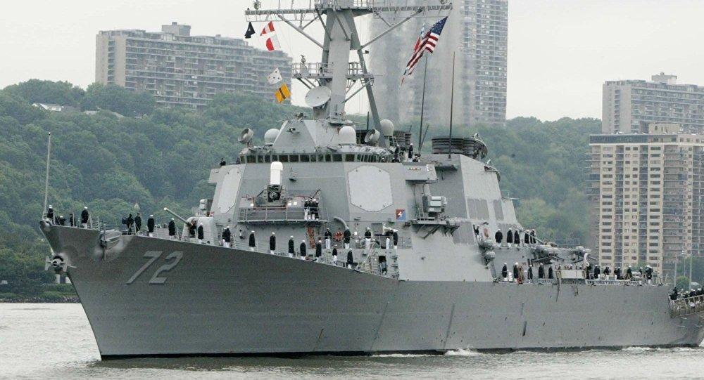 """美""""菲兹杰拉德""""号驱逐舰被紧急疏散的受伤者人数增至3人"""