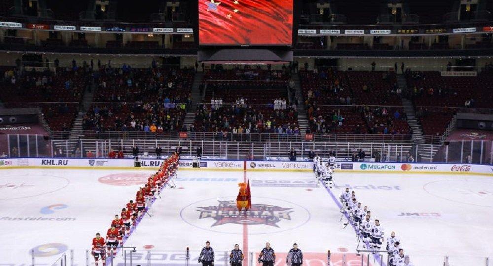 大陆冰球联赛:莫斯科迪纳摩战胜昆仑鸿星