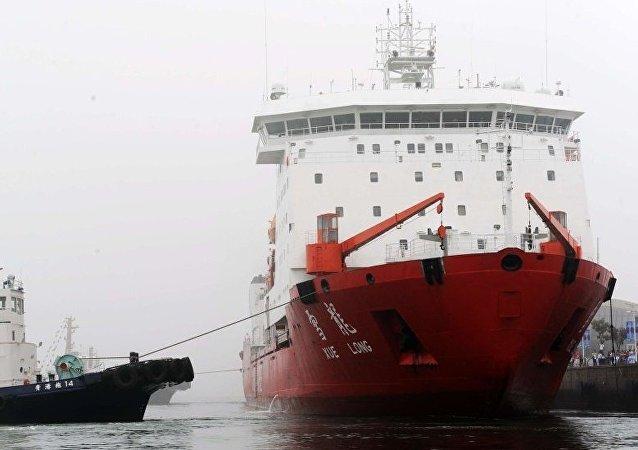 """俄专家:中国首艘自主建造极地破冰船""""雪龙2""""号2019年将建成"""