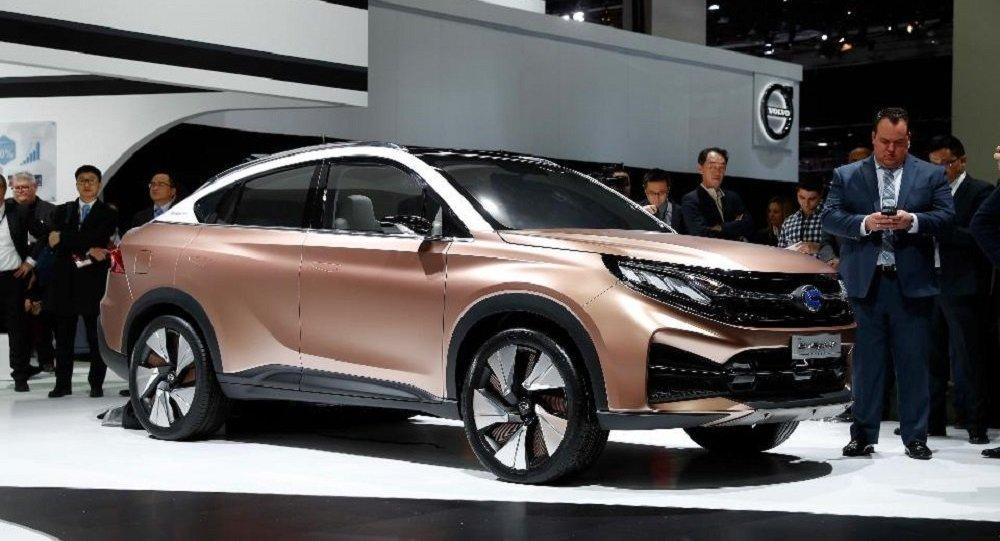 中国广汽集团新能源概念车亮相底特律车展