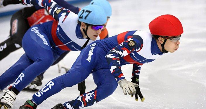俄羅斯選手獲得歐洲短道競速滑冰錦標賽冠軍 (資料圖片)