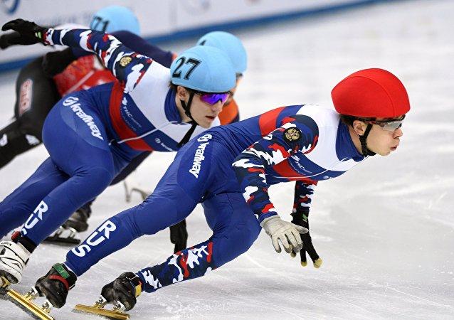 俄罗斯夺得短道速滑世界杯男子接力冠军