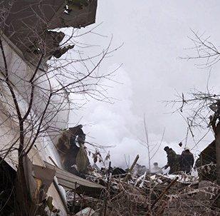 """比什凯克附近失事波音飞机""""黑匣子""""被送往莫斯科鉴定"""
