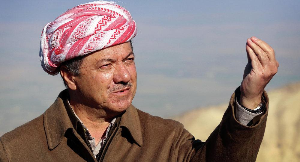 伊拉克库尔德自治区领导人马苏德·巴尔扎尼