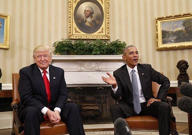 奥巴马因特朗普指责他电话监听而勃然大怒