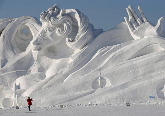 俄罗斯阿穆尔河畔将首次举办冰雕节