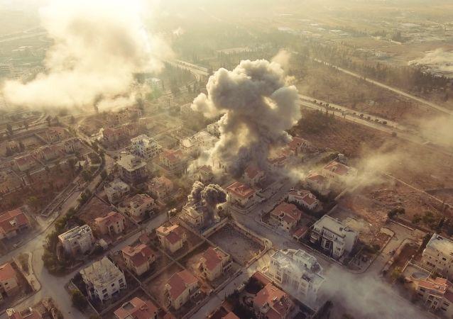Оборона Академии Башара Асада в Алеппо. Правительственные войска наносят удары по позициям боевиков