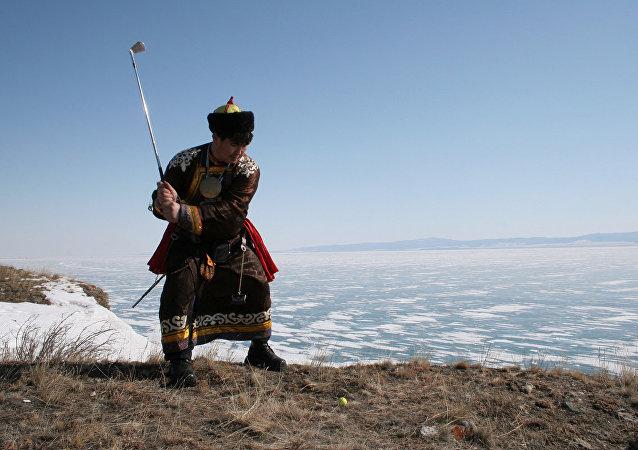 贝加尔湖将举行冰上高尔夫球比赛