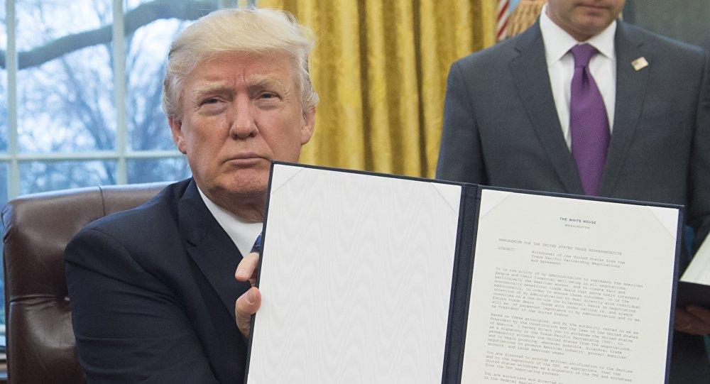 美总统顾问:退出TPP系美国现代史上最重要事件之一