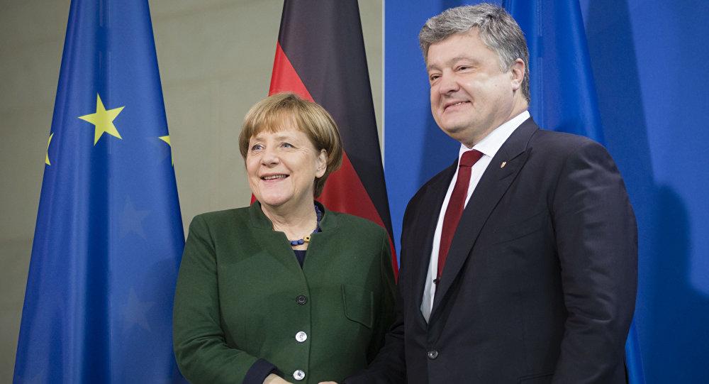 波罗申科与默克尔