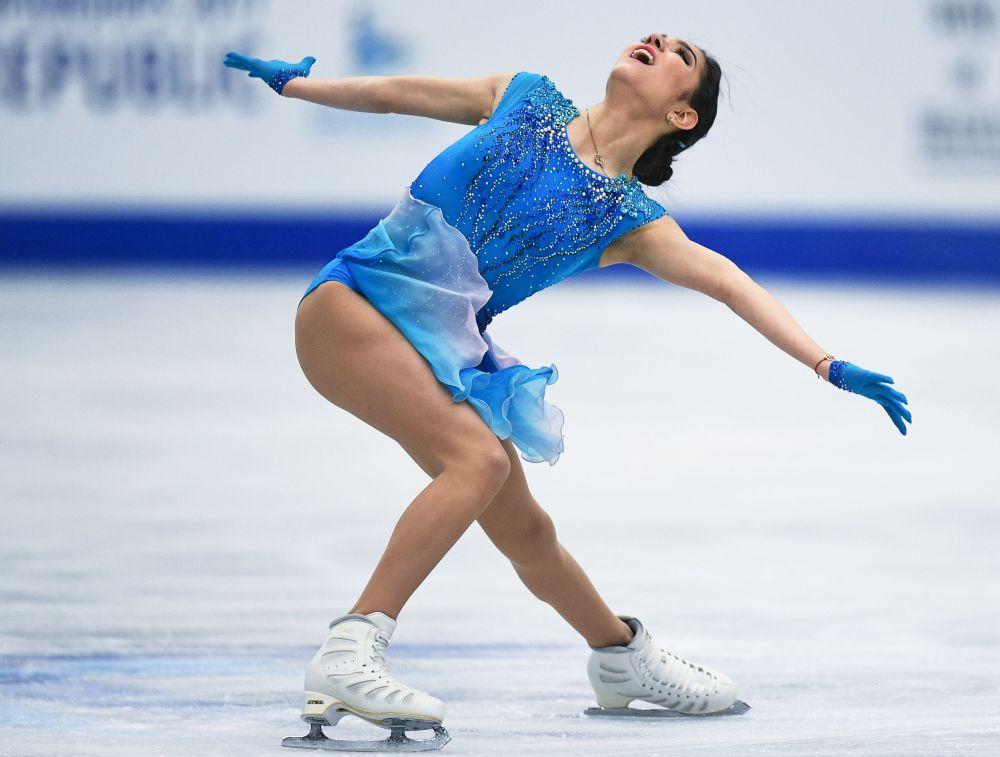 叶甫盖尼娅·梅德韦杰娃在欧洲花滑锦标赛上