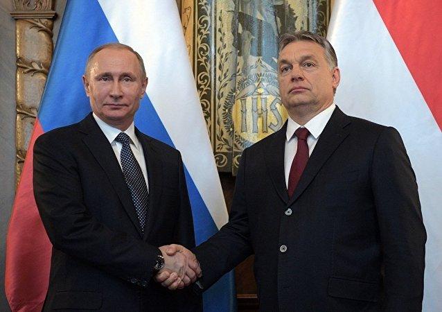 俄罗斯总统普京与匈牙利总理欧尔班