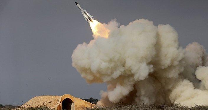 伊朗进行的导弹试验