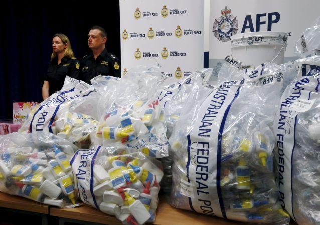 澳警方缴获了一批重量创下记录的中国大陆冰毒/资料图片/