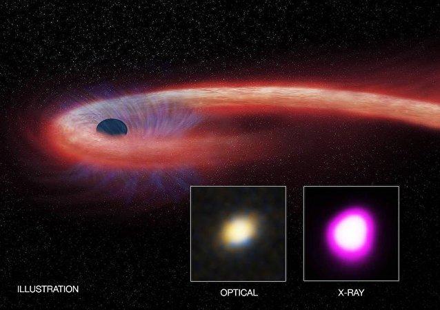 """天文学家发现""""最贪婪""""黑洞"""