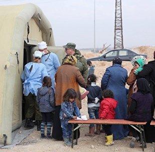 俄方一昼夜向叙平民转交1.8吨人道物资