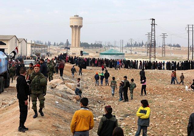俄驻叙停火中心一昼夜内在阿勒颇开展5次人道主义行动