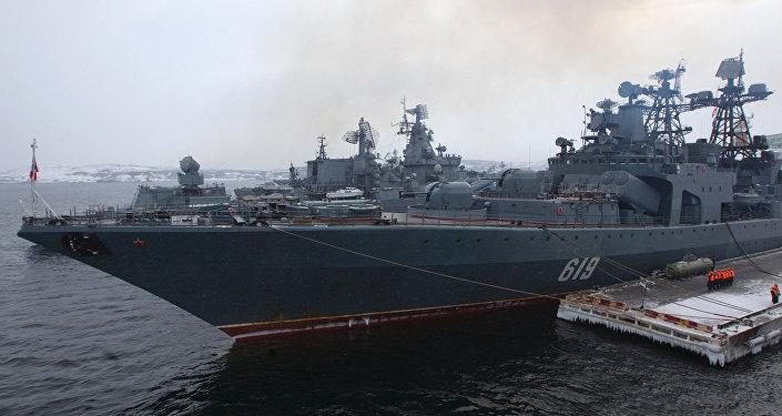 """""""北莫尔斯克""""号大型反潜舰"""