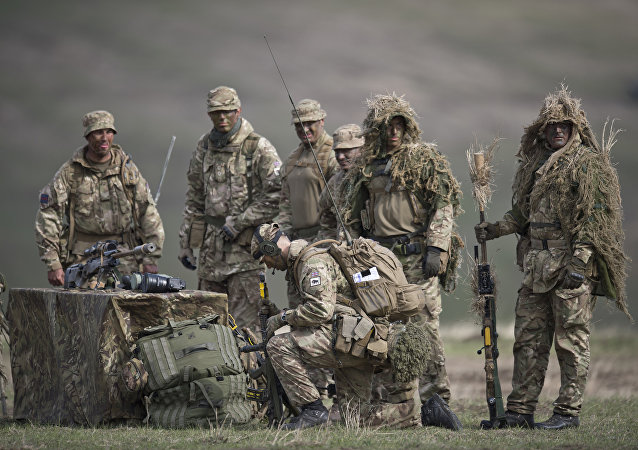 British army personnel take part in the military exercise