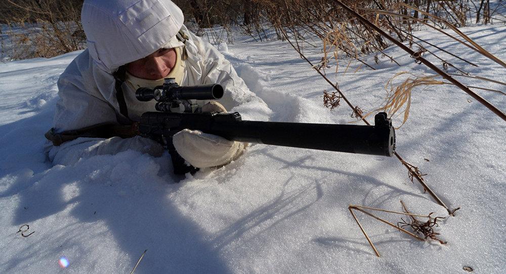 风景衍纸画作品大�_俄东部军区为国际军事比赛选拔狙击手