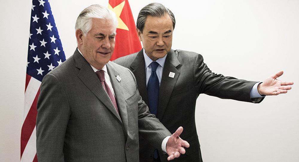 中国外交部长与美国国务卿讨论包括朝鲜问题在内的安全问题