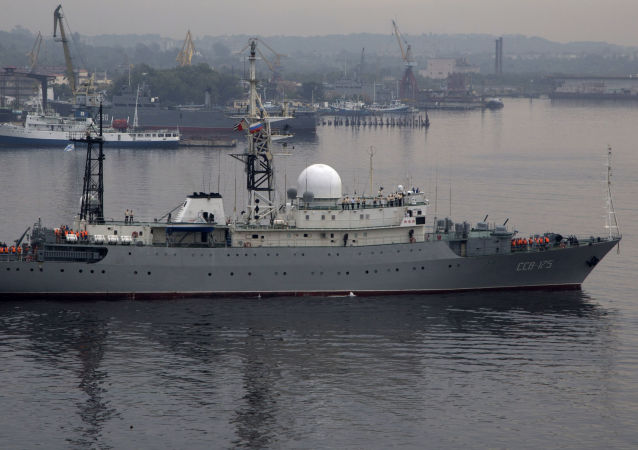 媒体称再次在美国海岸附近发现俄海军侦察舰