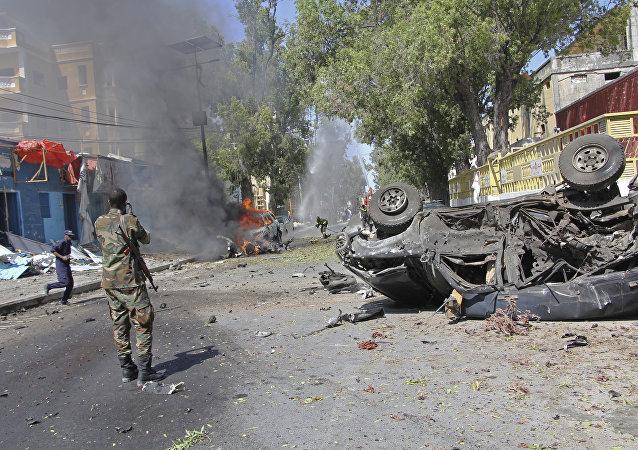 通讯社:索马里首都市场爆炸死亡人数上升至35人,约40人受伤