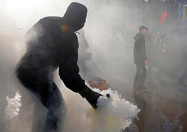 支持对顿巴斯进行贸易封锁的行动 (基辅)