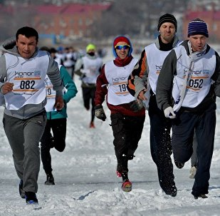 2016年的「符拉迪沃斯托克冰雪跑」 半程馬拉松