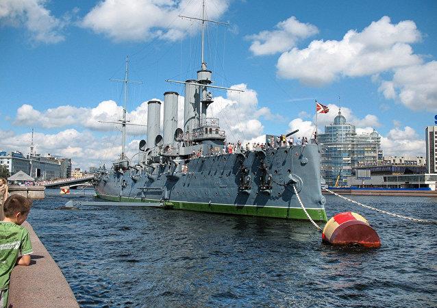 Saint Petersburg. Russian cruiser Aurora