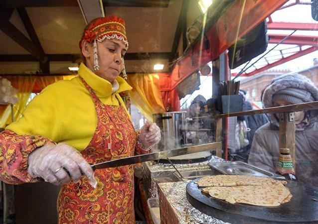 """""""莫斯科谢肉节""""上"""