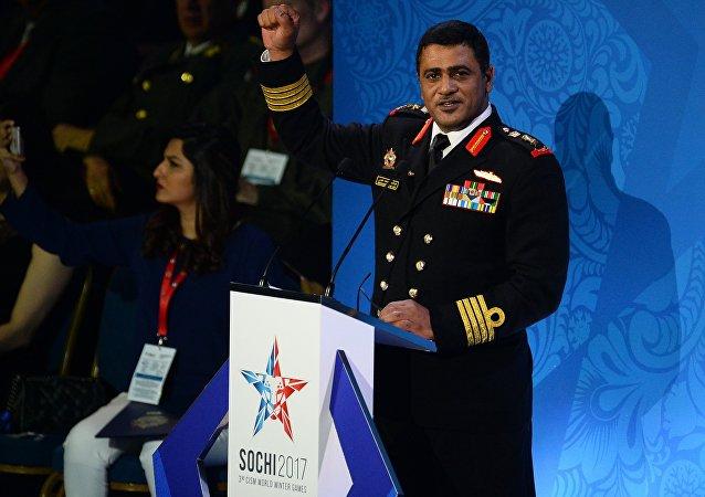 国际军事体育理事会主席阿布杜尔哈基姆•阿尔-史诺