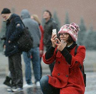 中國女孩兒在紅場