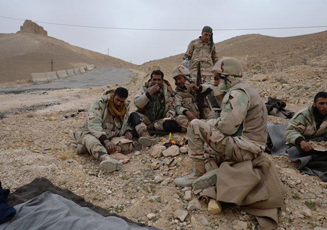 """消息人士:叙利亚政府军在巴尔米拉附近消灭了一股伊斯兰国""""敢死队"""""""