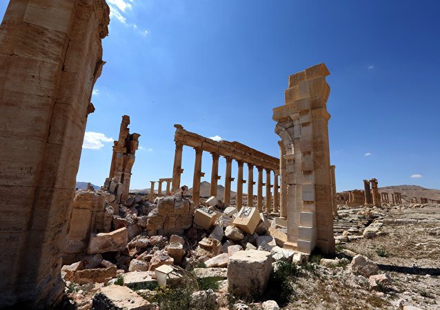Destroyed ancient Syrian city of Palmyra