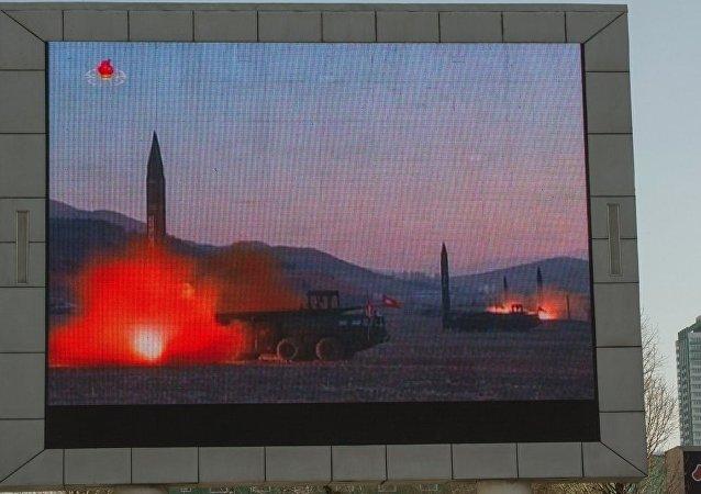 """朝鲜驻俄使馆正式证实6日发射弹道导弹,""""华城""""炮兵部队参与了发射"""