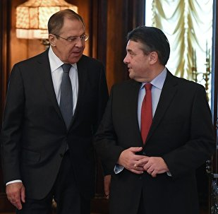 俄羅斯外長拉夫羅夫與德國外長加布里爾