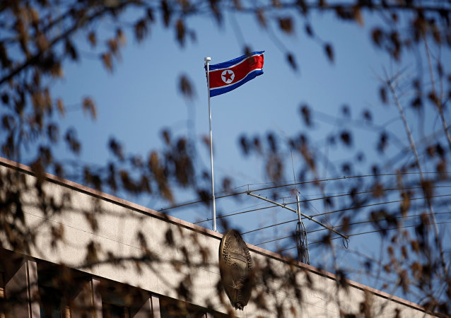 中国驻朝鲜大使馆祭奠志愿军先烈