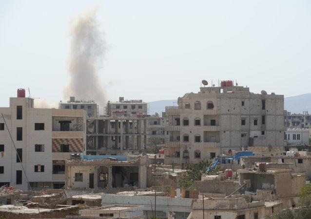 大马士革使馆区遭到恐怖分子的导弹攻击