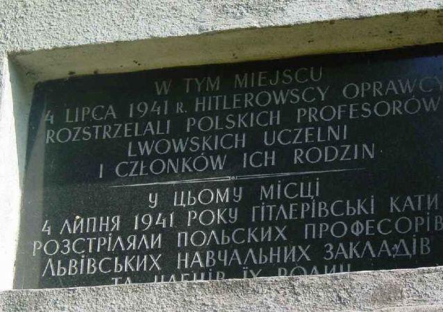 波兰驻乌大使:乌克兰利沃夫州两座波兰纪念碑被亵渎