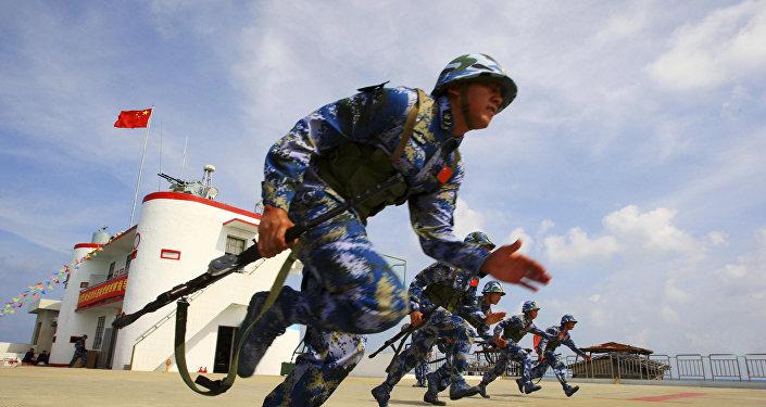 中国海军陆战队员
