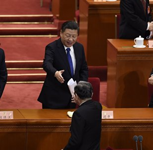 """十二届人大五次会议确立了习近平""""领导核心""""地位"""