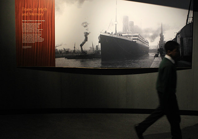 A Titanic display at the Ulster Transport Musuem in Belfast, Northern Ireland