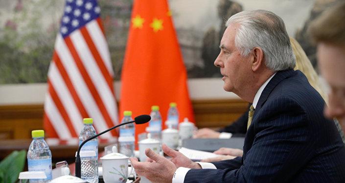 美国国务卿蒂勒森:美中一致认为朝鲜半岛紧张局势已很高