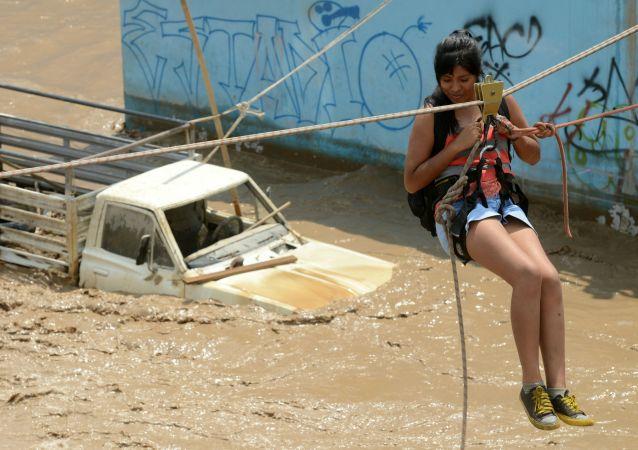 秘鲁洪水死亡人数达75人 260多人受伤
