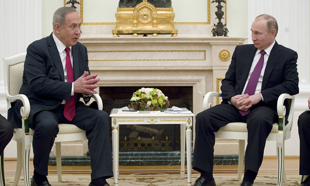 以色列总理本雅明∙内塔尼亚胡在访问莫斯科时告诉记者,此访首先与伊朗在叙利亚建立军事基地的意愿有关。